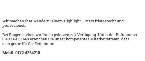 Tapezierer und Malerarbeiten für 22885 Barsbüttel - Willinghusen, Stellau oder Stemwarde