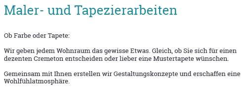 Tapezierarbeiten für 22885 Barsbüttel